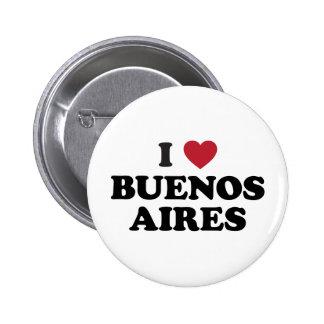 Mim coração Buenos Aires Argentina Bóton Redondo 5.08cm