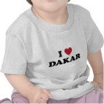 Mim coração Dacar Senegal Camiseta