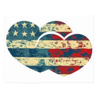 Mim coração EUA Cartão Postal