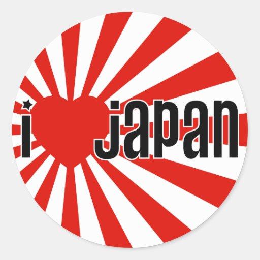 Mim coração Japão! Adesivo Redondo