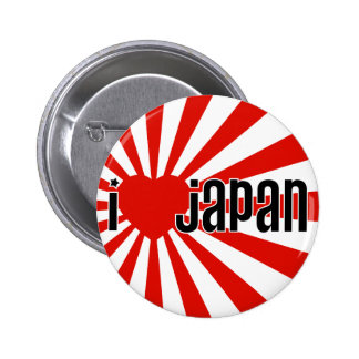Mim coração Japão! Bóton Redondo 5.08cm