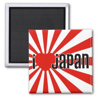 Mim coração Japão! Ímã Quadrado