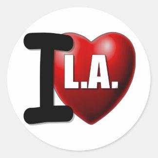 Mim coração Los Angeles - LA do amor de I Adesivo
