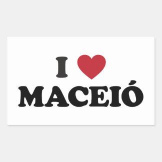 Mim coração Maceió Brasil Adesivo Retangular