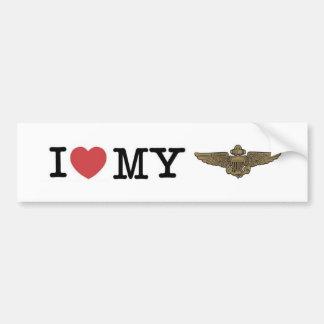 Mim coração meu aviador naval adesivo para carro