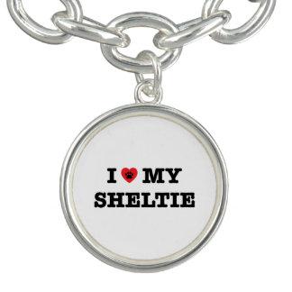 Mim coração meu bracelete do encanto de Sheltie