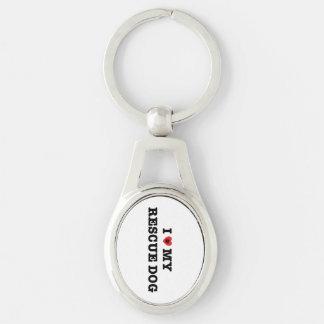 Mim coração meu chaveiro do metal do cão do