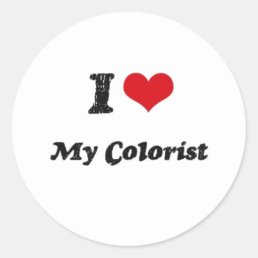 Mim coração meu Colorist Adesivo Redondo