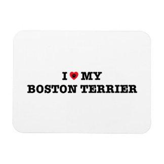 Mim coração meu ímã flexível de Boston Terrier