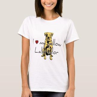 """Mim """"coração"""" meu Labrador amarelo com gráfico Tshirts"""