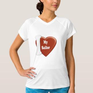 Mim coração meu marinheiro (forma do coração) camiseta