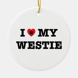 Mim coração meu ornamento de Westie