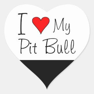Mim coração meu pitbull adesivo coração