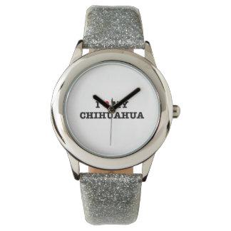 Mim coração meu relógio de pulso da chihuahua