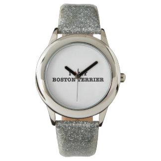 Mim coração meu relógio de pulso de Boston Terrier