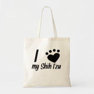 Mim coração meu Shih Tzu Bolsas De Lona
