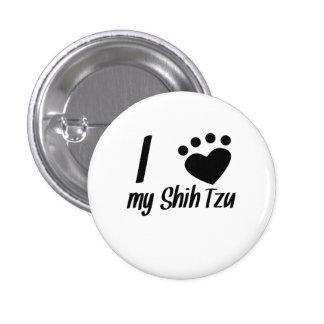 Mim coração meu Shih Tzu Botons
