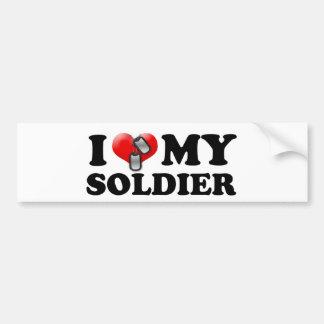 Mim (coração) meu soldado adesivo para carro