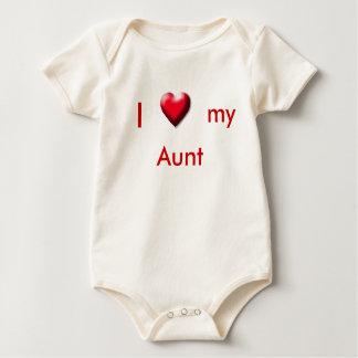 Mim, coração, meu, tia body para bebê