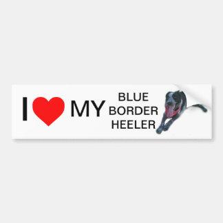 Mim coração minha beira azul Heeler Adesivo Para Carro