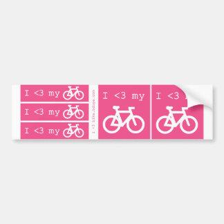 Mim (coração) minha bicicleta adesivo para carro