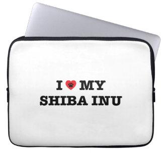 Mim coração minha bolsa de laptop de Shiba Inu Capa Para Laptop