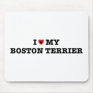 Mim coração minha Boston Terrier Mousepad