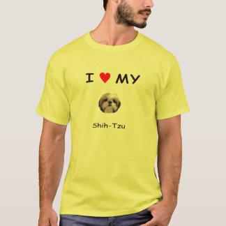 Mim coração minha camisa de Shih Tzu