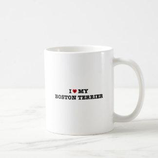 Mim coração minha caneca de café de Boston Terrier