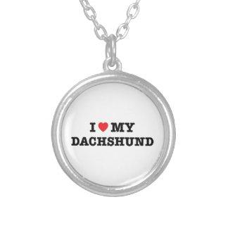 Mim coração minha colar do Dachshund