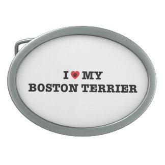 Mim coração minha fivela de cinto de Boston