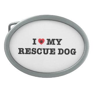 Mim coração minha fivela de cinto do cão do
