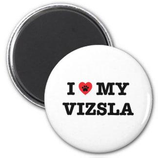 Mim coração minha imã de geladeira de Vizsla