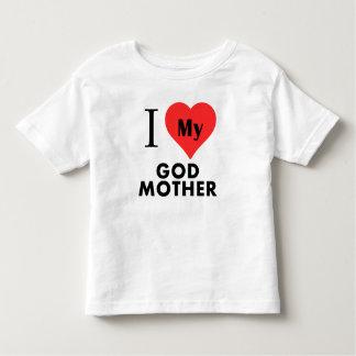 Mim coração minha mãe do deus t-shirt