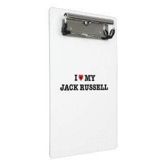 Mim coração minha mini prancheta de Jack Russell