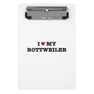 Mim coração minha mini prancheta de Rottweiler