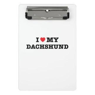 Mim coração minha mini prancheta do Dachshund
