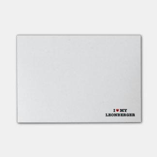 Mim coração minhas notas de post-it de Leonberger Sticky Note