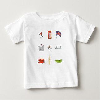 Mim coração Reino Unido, amor britânico, marcos Camiseta Para Bebê
