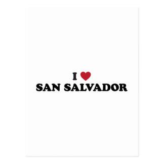 Mim coração San Salvador El Salvador Cartão Postal