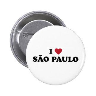 Mim coração Sao Paulo Brasil Bóton Redondo 5.08cm