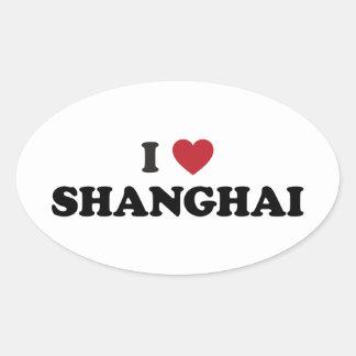 Mim coração Shanghai China Adesivo Oval