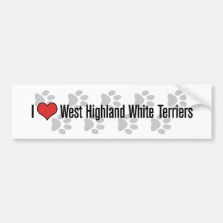 Mim (coração) terrier brancos de montanhas ocident adesivo