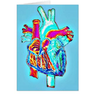 """""""Mim coração você"""" cartão anatômico do coração"""