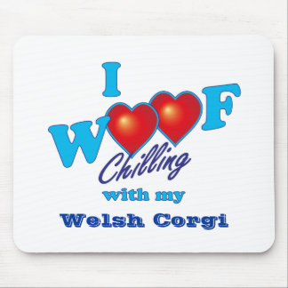 Mim Corgi de Galês do Woof Mouse Pad