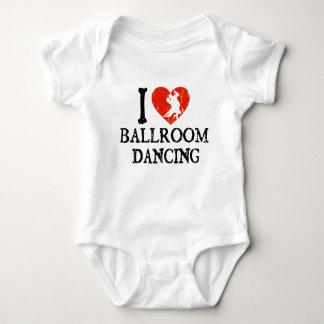 Mim dança de salão de baile do coração t-shirts