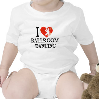 Mim dança de salão de baile do coração babadores