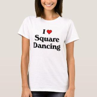 Mim dança quadrada do loce camiseta