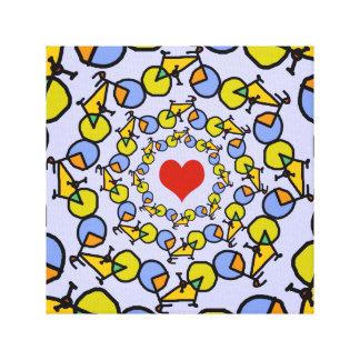 Mim design da cor das bicicletas do coração