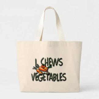 Mim design dos vegetais das mastigações bolsa tote grande